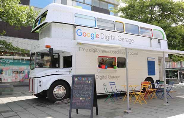 The Google Digital Garage bus