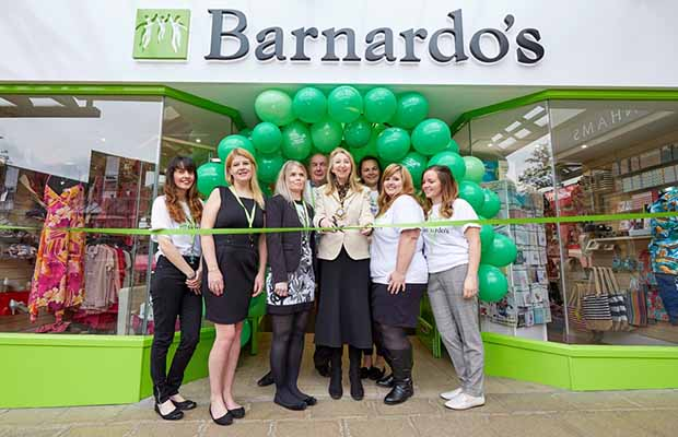 The official opening of the new Barnardo's shop in Lichfield