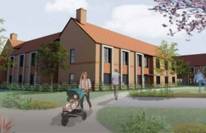 An artist's impression of the proposed development in Fradley
