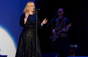 Katie Markham performing as Adele