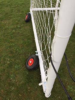 Some of the damage to the new goalposts at Midland Soccer Academy