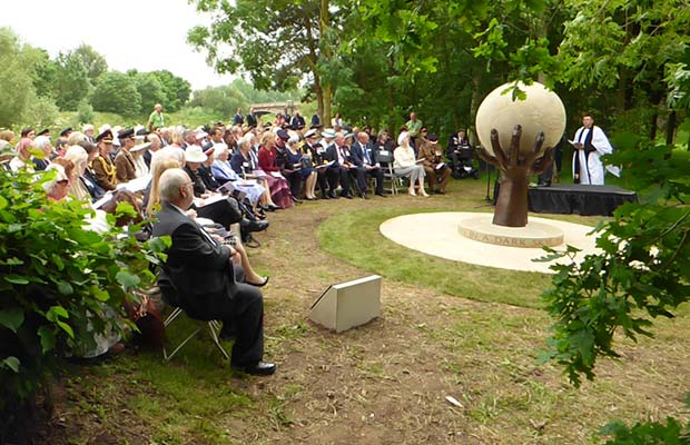The ceremony at the National Memorial Arboretum. Pic: Richard Pursehouse