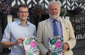 Economic development officer Jonathan Percival and Cllr Ian Pritchard launching the new 'Investment Prospectus'