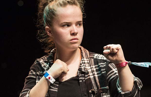 Rebecca Mills in rehearsalsRebecca Mills in rehearsals
