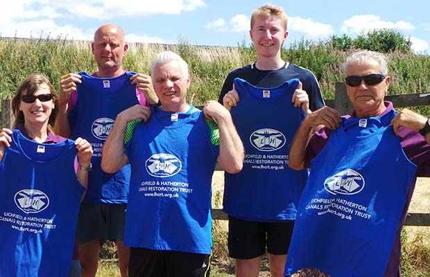 The runners with their Lichfield 10k vests