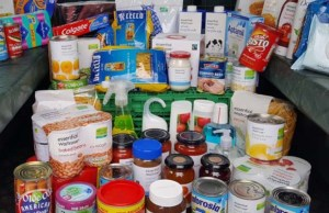 Some of the donations made to the Lichfield Foodbank