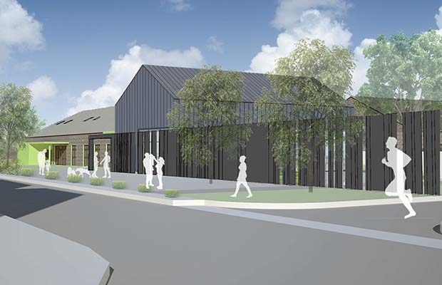 An artist's impression of the new Streethay Primary School building
