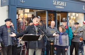 The Lichfield Lighthouse Company at the opening of Seasalt in the city centre