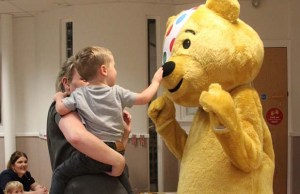 Pudsey Bear at the St Matthews nursery