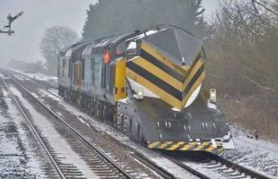 A snow plough train