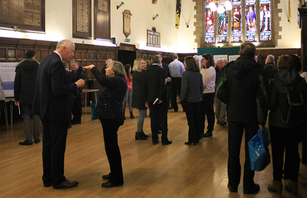People at the consultation event