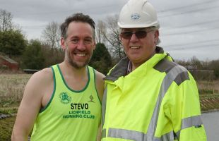 Steve Williams with his dad Brian, a Lichfield and Hatherton Canals Restoration Trust volunteer