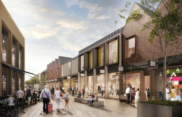 An artist's impression of the doomed Friarsgate development