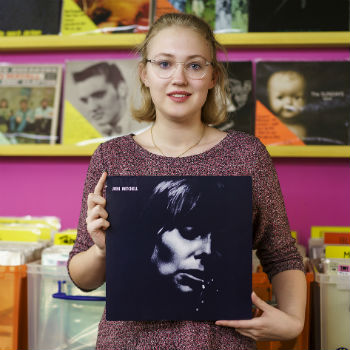 Customer Hannah with her favourite record