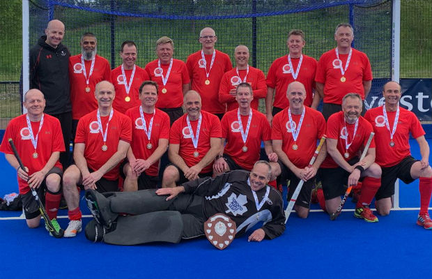 The victorious Lichfield Hockey Club team