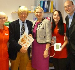 Michael Fabricant with staff from the Westgate GP Practice