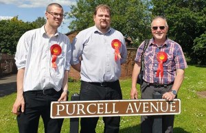 Councillors Matthew Field, Dave Robertson and Colin Ball