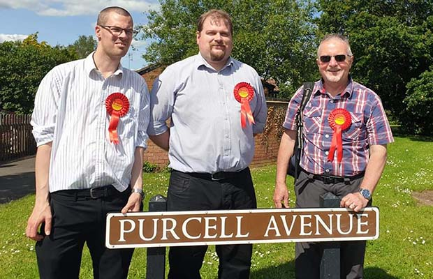 Councillors Matthew Field, Dave Robertson and Colin Ball
