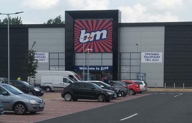 The new B&M store in Lichfield