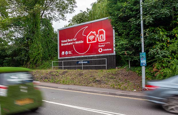 The billboard site in Lichfield that's up for sale