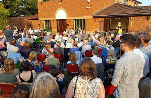 The public meeting over the future of Friary Grange Leisure Centre