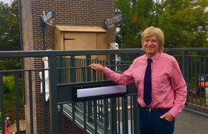 Michael Fabricant outside one of the new lift shafts