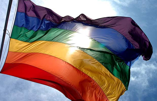 Rainbow flag. Pic: Ludovic Bertron
