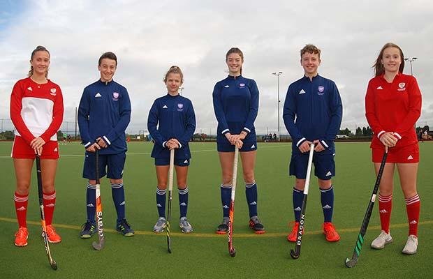 Lily Upton, Seb Fisher, Isabelle Astoin, Jenna Langley, Harvey Hughes, Sophie Hughes at Lichfield Hockey Club