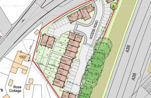 The proposed layout of the new development in Streethay