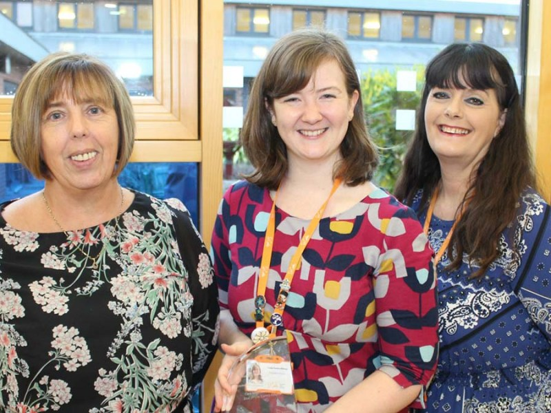 Pathways4Life dementia support worker Pat Roberts, St Giles Hospice dementia advisor Emily Pardoe-Billings and St Giles Hospice dementia support worker Gina Gardner,