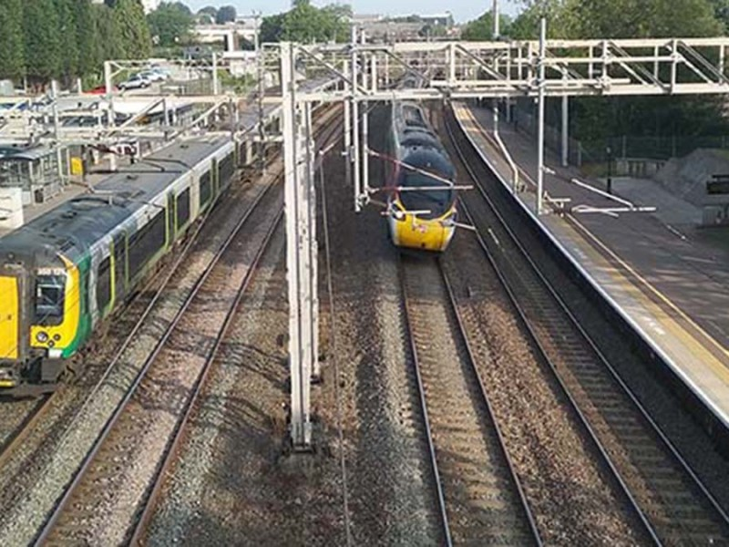 The West Coast Main Line through Lichfield Trent Valley station