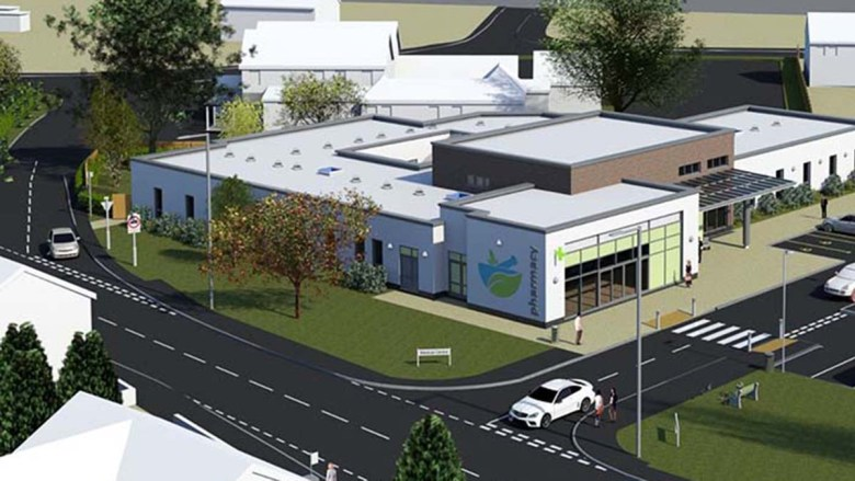 An artist's impression of the new health centre on the former Greenwood House site in Burntwood