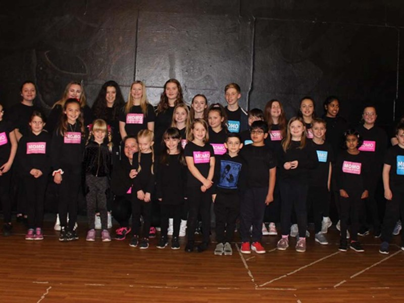 Students from the MOMO Academy of Drama in Burntwood