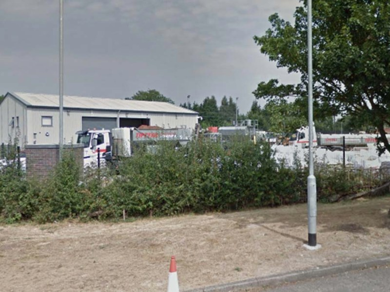 The storage yard that Walter Tipper Ltd hopes to extend. Picture: Google Streetview