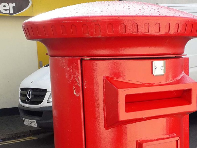 The new postbox
