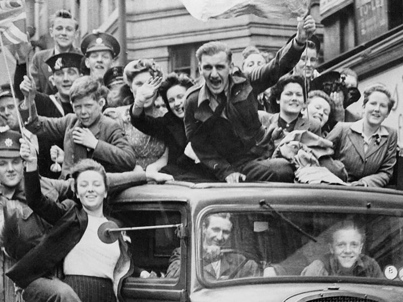 VE Day celebrations in 1945