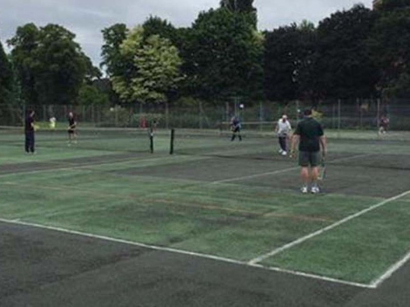 The Beacon Park tennis courts before the refurbishment works began