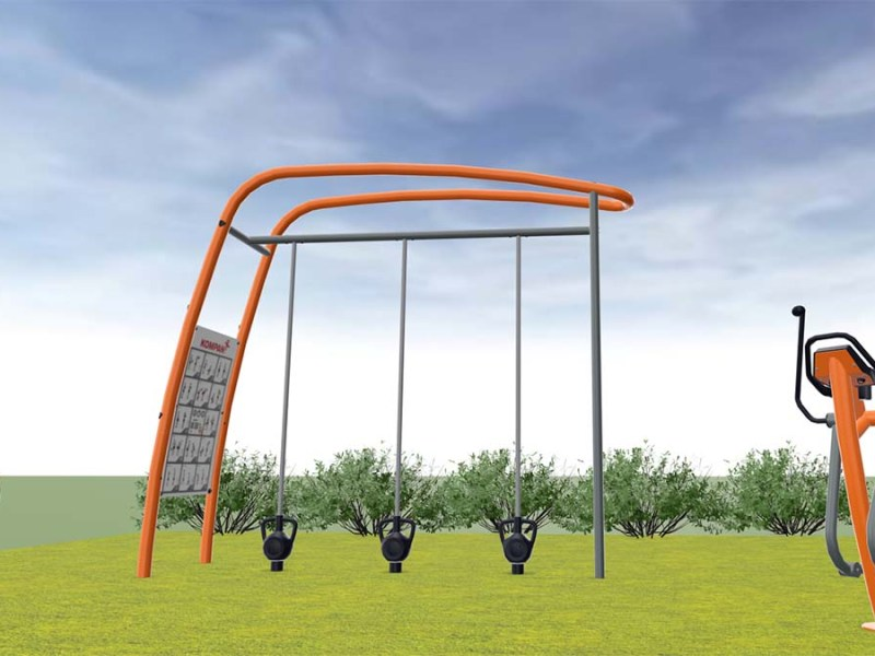 An artist's impression of some of the new gym equipment