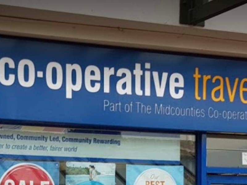 Co-operative Travel sign