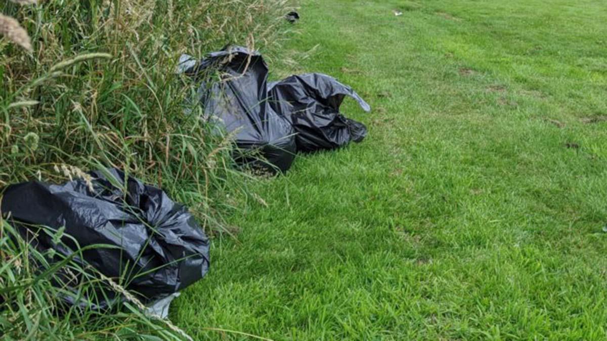 Rubbish left behind by travellers in Lichfield