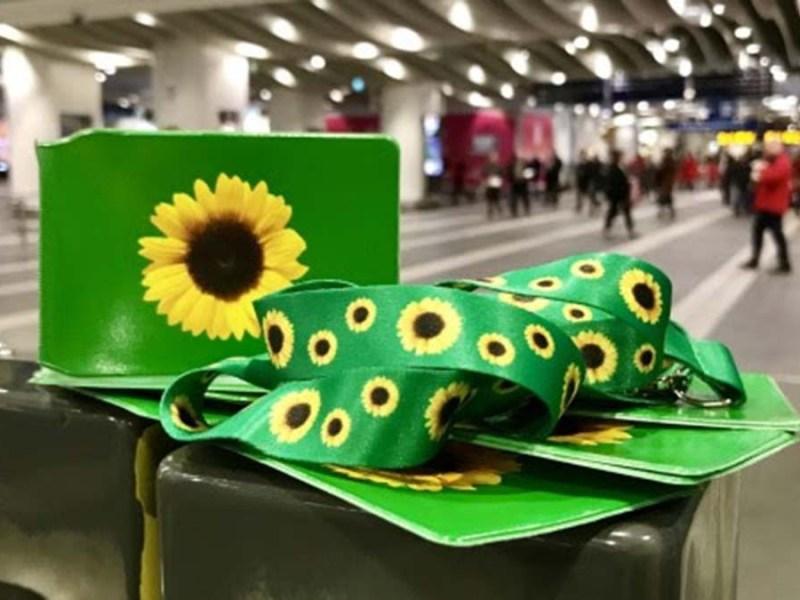 Sunflower lanyard