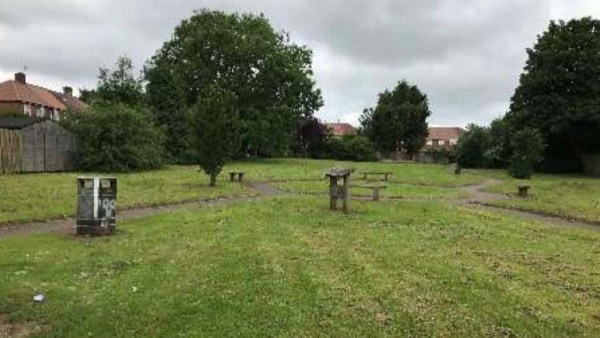 The land off Leyfields earmarked for new housing