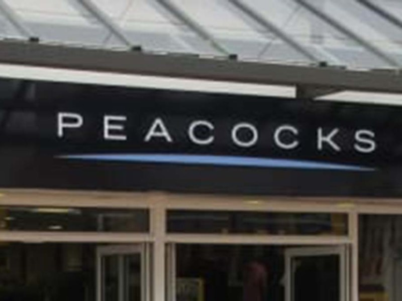 Peacocks sign