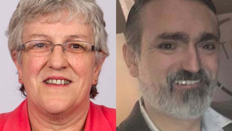 Cllr Sue Woodward and Cllr Darren Ennis