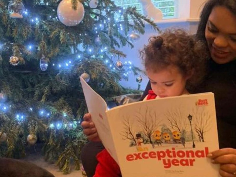 A child reading An Exceptional Year