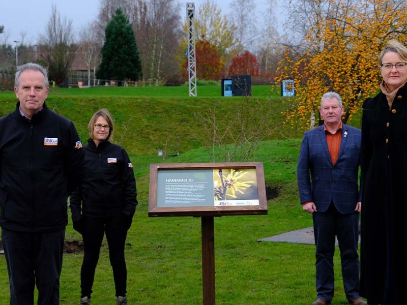 James Cadman, Tina Jones, Andy Ansell and Philippa Rawlinson at the National Memorial Arboretum. Picture: Phillip Nixon