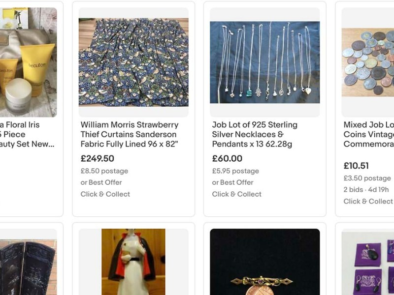 Items for sale on the St Giles Hospice eBay store