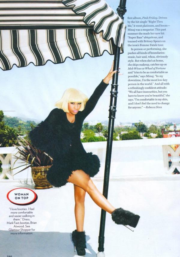 Ники Минаж в Glamour Magazine :: фотообзор :: Ники Минаж ...