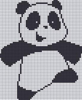 05.Как нарисовать панду по клеточкам