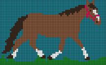 19.Рисунки по клеточкам лошадь